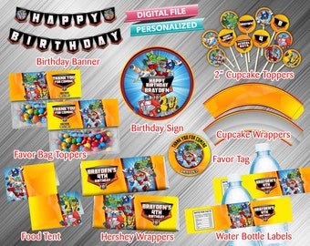 Rescue Bots Printable Party Package