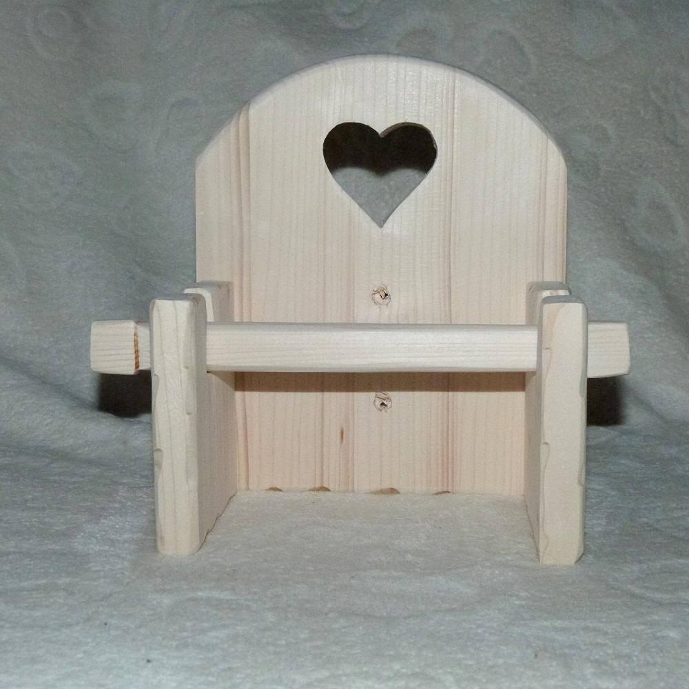 d vidoir d rouleur papier toilettes wc artisanal en bois 100. Black Bedroom Furniture Sets. Home Design Ideas