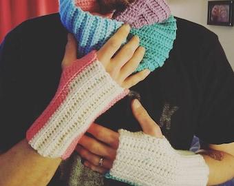 Fingerless Gloves and Cowl Set