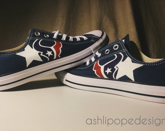 Hand Painted Houston Texans Shhoes
