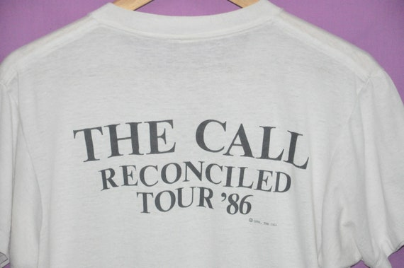 Shirt 86 Tour Reconciled T band Wave 80s Band Vintage New Call The 1986 tess Rock wq6aWY0p