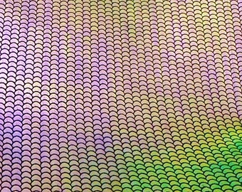 """Leather 12""""x12"""" MERMAID TAIL Purple Pink Green Gold Iridescent on Cowhide 2 oz / 0.8 mm PeggySueAlso™ E1320-04 full hides available"""
