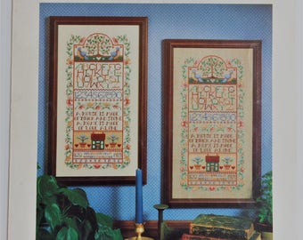 Vintage Dimensions Cross stitch chart - Home Sampler by Linda Gillum