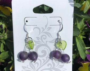 Huckleberry Earrings made in Montana