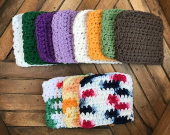 Crocheted Coasters - Colors Set of 4