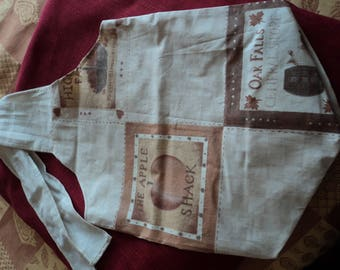 Pure cotton lightweight, washable, ironable western pattern tote bag