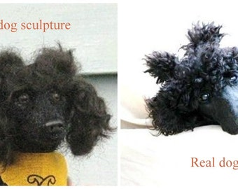 Needle Felted Dog / Custom Miniature Sculpture of your pet / Cute