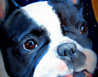 "French Bulldog Art Print of an original oil painting/ ""My Lips Are So Raw"" / 8 x 10 / Dog Art"