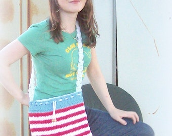 American flag purse with all vintage materials