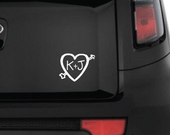 You + Me Car Decal - Personalized Vinyl Decal  - Window Decal - Vehicle Decal