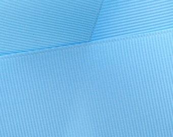 """1.5"""" Grosgrain Ribbon Solid 311 Blue Mist 5yd"""