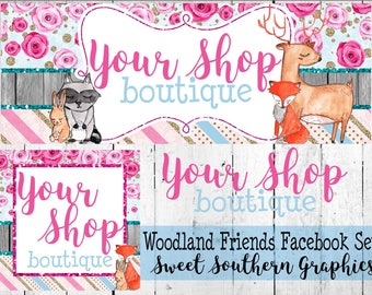 Woodland Friends Facebook Set