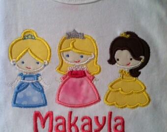 3 inspired princess's