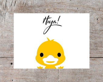 Printable Greeting Cards, Online Greeting Cards, Adorable Duck Card, Duck Card, Thinking of You Duck Card, Thinking of You Card, Cute Card