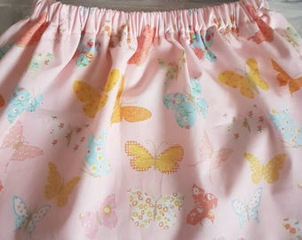 Pink butterfly skirt and bow set