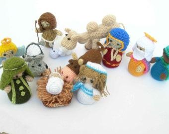 Amigurumi Nativity Crochet 13 Pieces