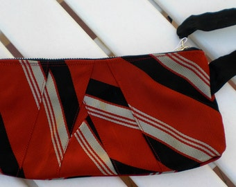 Upcycled Necktie Clutch