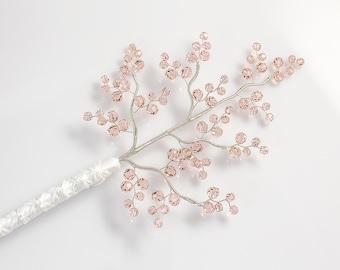 Limited Edition Bridal Bouquet - Emily Bridal Bouquet in Pink Blush Crystal - Wedding Bouquet - Fabulous Brooch Bouquet Alternative