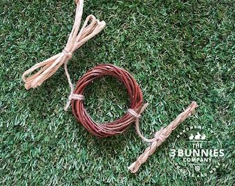 Willow & seagrass twist / rabbit toys / bunny toys / toys for rabbits bunnies / rabbit bunny enrichment toys / safe rabbit toys / willow toy