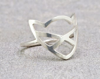 Silver Pussycat Ring // Charity Donation