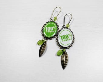 Vegan - 500% Vegan earrings