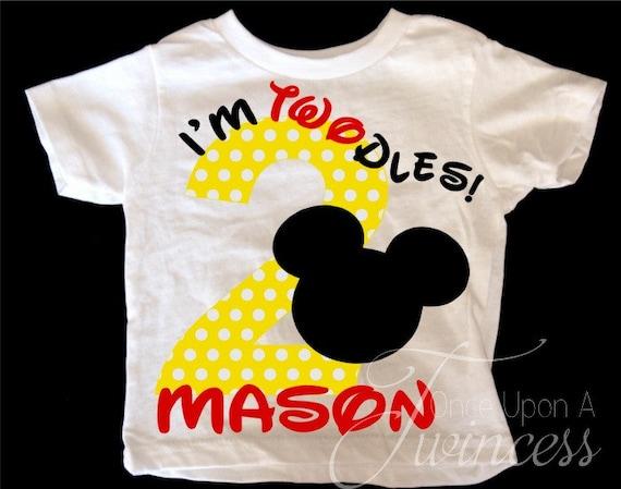 I M Twodles Birthday Shirt Mickey Mouse Birthday Shirt