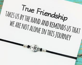 Best Friend Bracelet | Friendship Bracelet | Compass Bracelet | Best Friend Gift | BFF Compass Bracelet | Gift for Best Friend