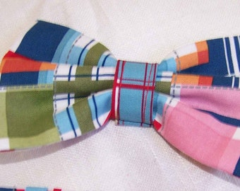 For The Little Guy bow tie - Madras Boy's Bow Tie - pre-tied - Clip on - Ring Bearer