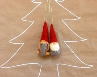 Christmas ornament Gnomes/santa - Waldorf Inspired Figurines