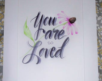 You Are Loved Nursery Art