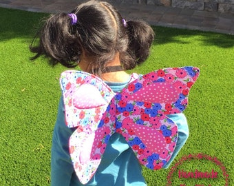 Toddler dress up, fabric butterfly wings