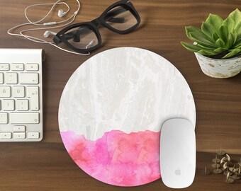 Mouse Pad, Marble Mousepad, Mouse Mat Marble print Mouse Pad Office Mousemat Rectangular Mousemat Mousepad pink design mouse pad - T80638