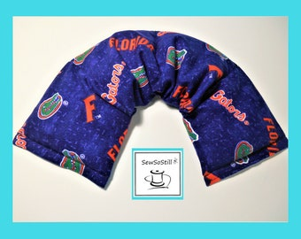 University of Florida Gators UF, Heating Pad Microwavable, UF Gator Football, Tail Gate, Relaxation Gifts, Orange Blue, Neck Wrap Heat Pack