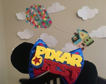 Pixar Fest Inspired Extra Large Interchangeable Bow