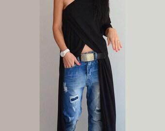 Loose Black Tunic, Women Maxi Tunic, Oversize Loose Top, Plus Size Maxi Tunic, Maxi Loose Tunic, Fallen Shoulder Top, Loose tunic