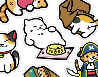 Neko Atsume Cute Kitty Vinyl Stickers