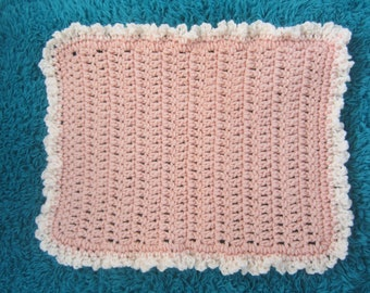 Crocheted Peach Blanket for your OOAK Baby/Doll