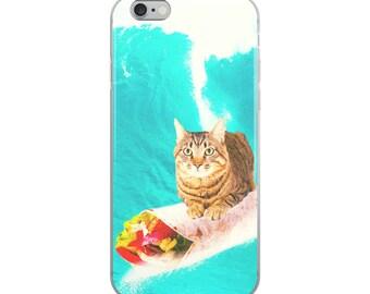 Kitty Cat Surfing Burrito iPhone Case