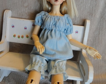MSD BJD  Chemise and Bloomer Blue