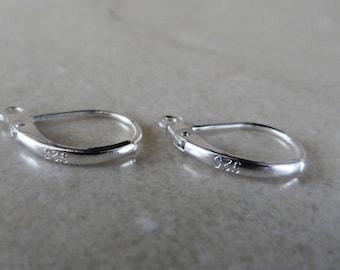 hook, silver, sleeper, clasps, earrings, 925 sterling silver, jewelry design, set of 50 pcs