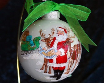 Hand Painted Santa Ornament item 39