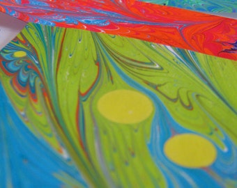 """Marbled Scrap Paper - """"Tiny Surprises BRIGHTS"""" on Masa Paper Collage Pack Supplies"""