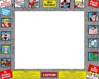 Street Fighter 2 Champion Edition Arcade Cabinet Graphic Bezel