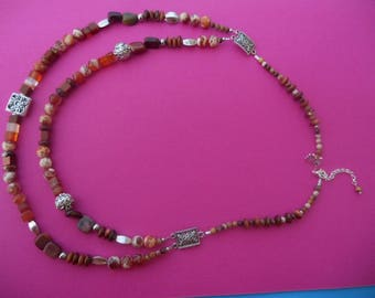 Wonderful agate double necklace