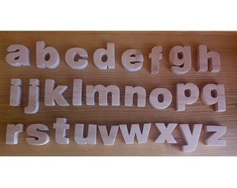 Kids gifts Lower case alphabet Magnetic alphabet English Alphabet Wooden alphabet Wooden letters English ABC Letters for nursery
