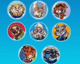 Zootopia - Pin-Back Buttons