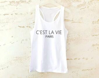 C'EST LA VIE Tank Top, Fashion Tank Top, Trendy Top, C'Est La Vie Top, Womens Tank Top, Graphic Tank Top, Summer Tank Top
