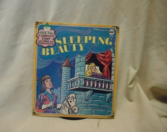 Vintage Sleeping Beauty Childrens Record by Peter Pan 45 Rpm, collectable. extended play