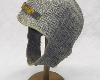 1930s Vintage Child's Wool Aviator Hat or Helmet