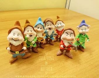 The Seven Dwarfs of Snow White, the Seven Dwarfs Cake topper, Seven Dwarfs, Seven dwarfs figurines, seven dwarfs, snow Black and the Seven Dwarfs